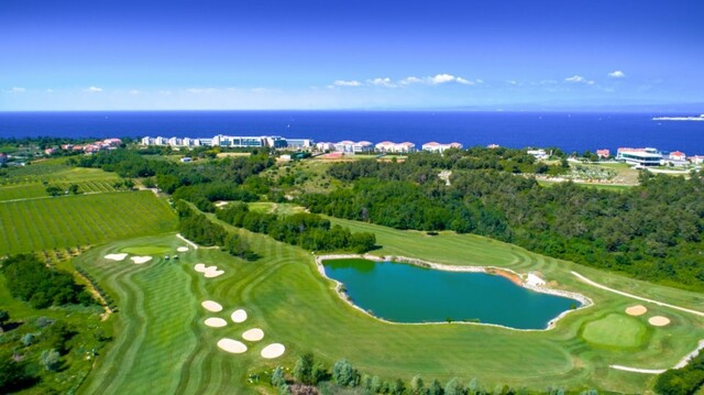 "Adriatic golf club Savudrija with the famous ""Monster"" hole"