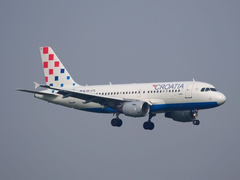 Croatie atterrissage d'avion