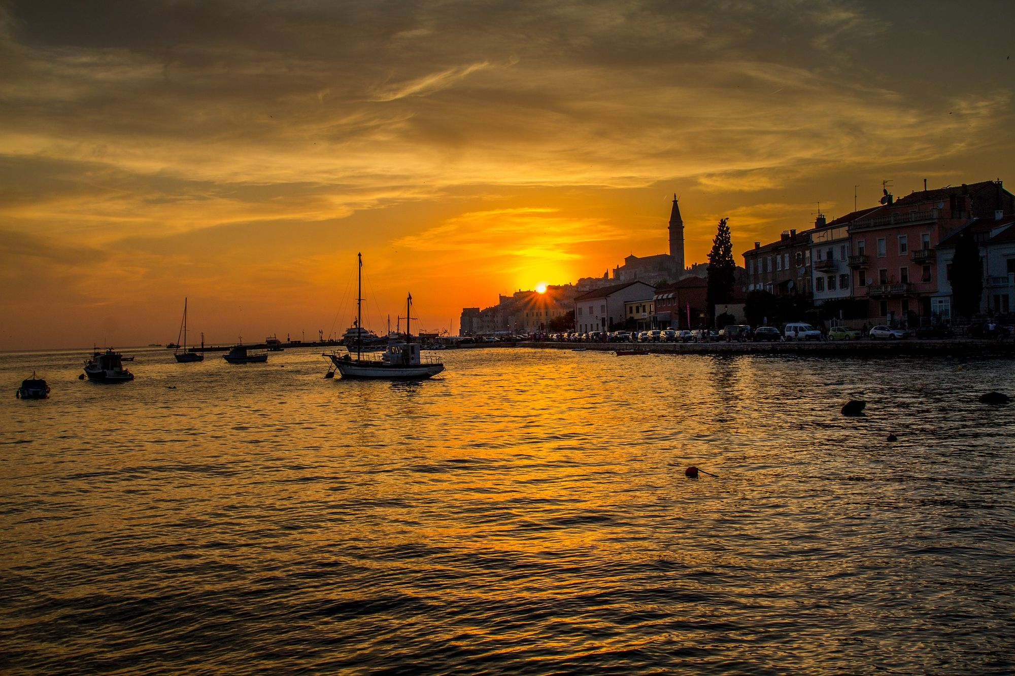 Sunset in Rovinj, Istria