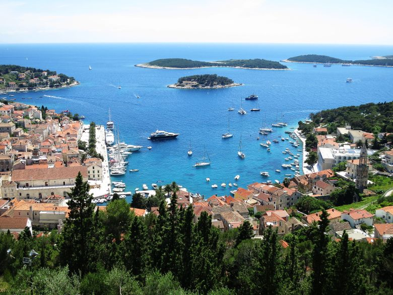 View from island Hvar