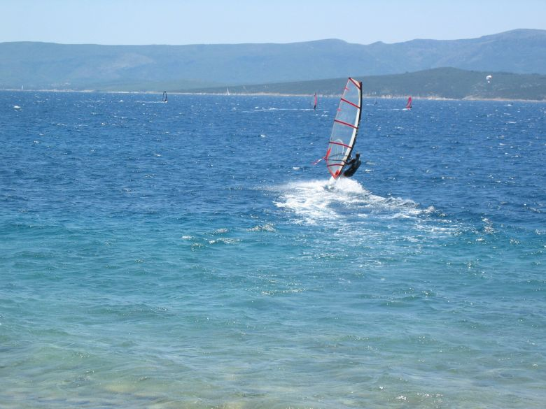Windsurfing on Brac