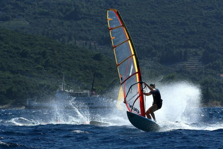 Windsurfing on Peljesac